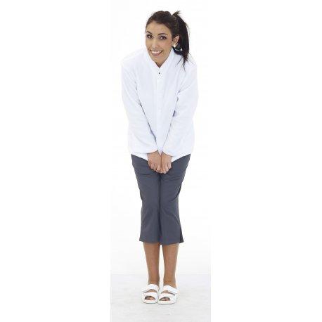 Polaire Médicale blanche unisexe -REMI-