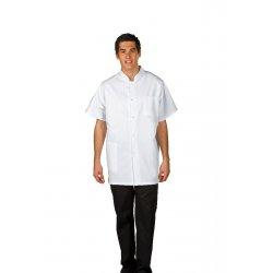 Blouse médicale homme blanche polycoton avec pressions-REMI-