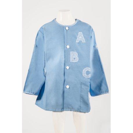 Tablier Ecole ABCD Bleu