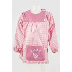 Tablier Ecole Vichy Coeur Rose
