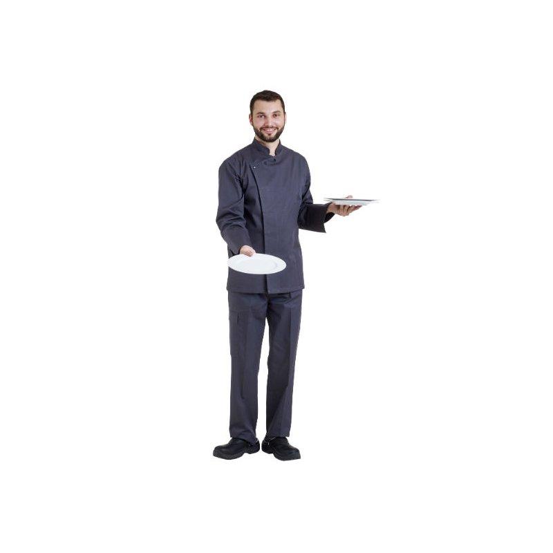 Veste de Cuisine manche longue grise
