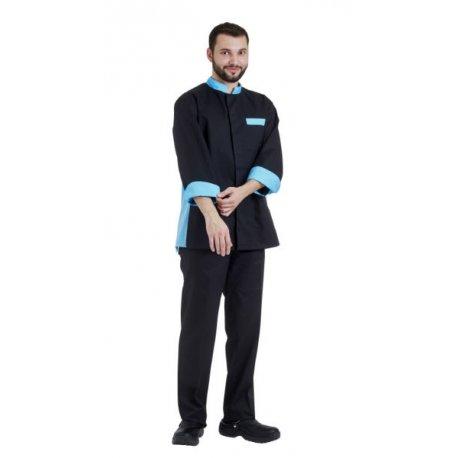 Veste de Cuisine Manche longue pour homme avec aération deux couleurs