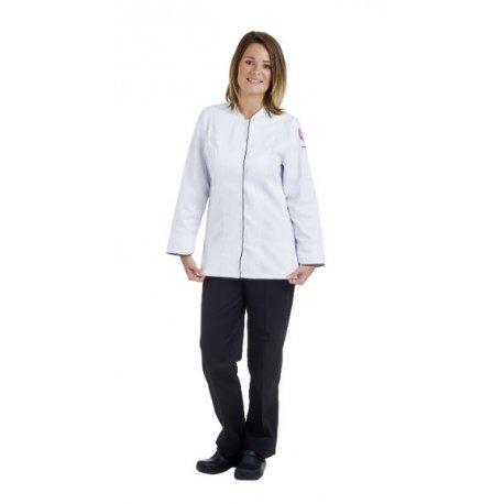 Veste de Cuisine Femme manches longues en Blanc