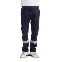Pantalon Ambulancier marine Homme bande réfléchissante-REMI-