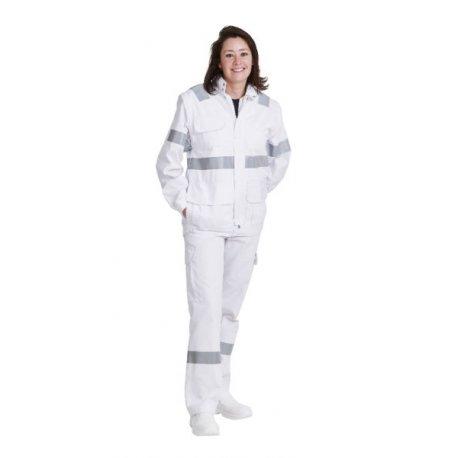 Blouson Ambulancier blanc unisex avec zip-REMI-
