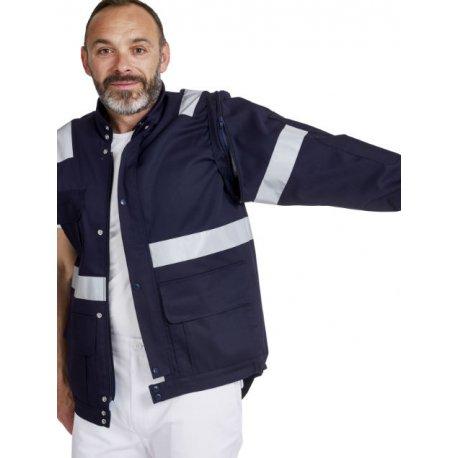 Blouson Ambulancier marine unisex avec zip-REMI-