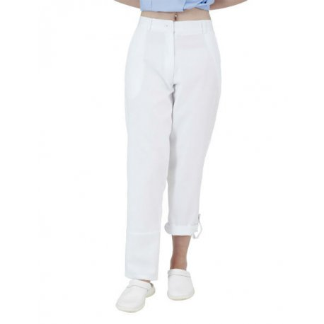 Pantalon médical femme blanc transformable-REMI-