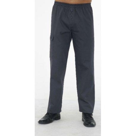 Pantalon médical Homme gris ceintre élastiqué-REMI-