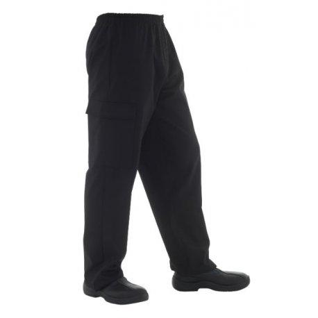 Pantalon médical homme noir ceinture élastiqué-REMI-
