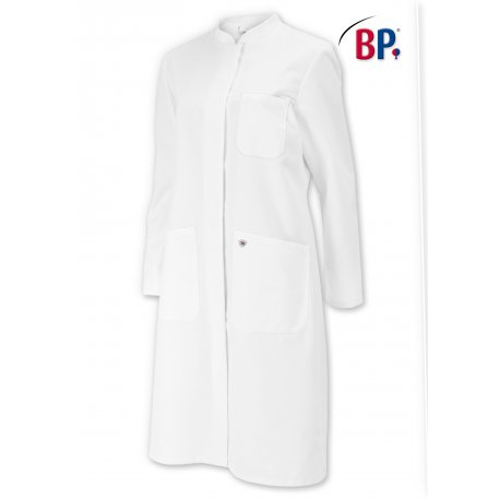 Blouse de laboratoire en coton pour femme longueur 100 cm-BP-