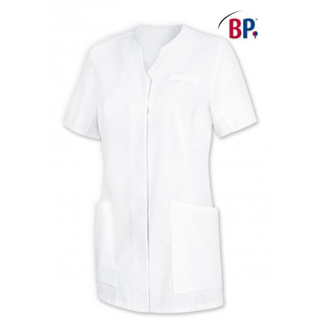 Blouse médicale blanche polycoton coupe ajusté-BP-