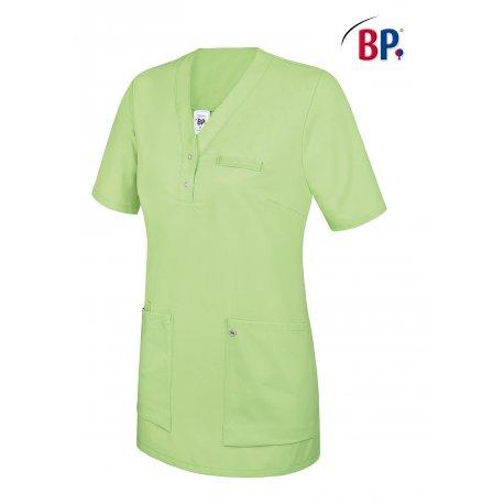 Tunique médicale femme vert clair avec empiècement deux poches-BP-