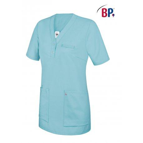 Tunique médicale femme à enfiler turquoise deux poches-BP-