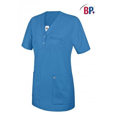 Tunique médicale femme bleu roi avec empiècement-BP-