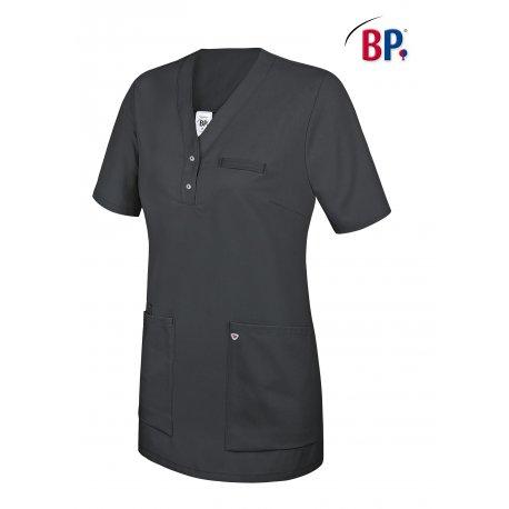 Tunique médicale femme marine avec empiècement deux poches -BP-
