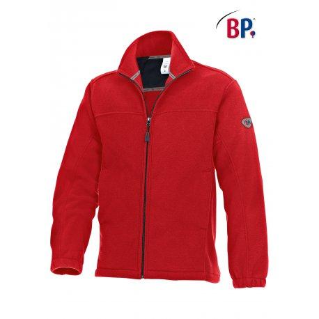 Veste Polaire médicale mixte rouge 100% polyester-BP-