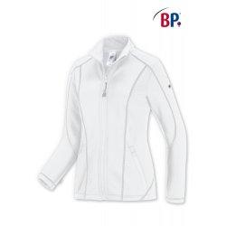 Polaire médicale blanche pour Femme avec élasthane-BP-