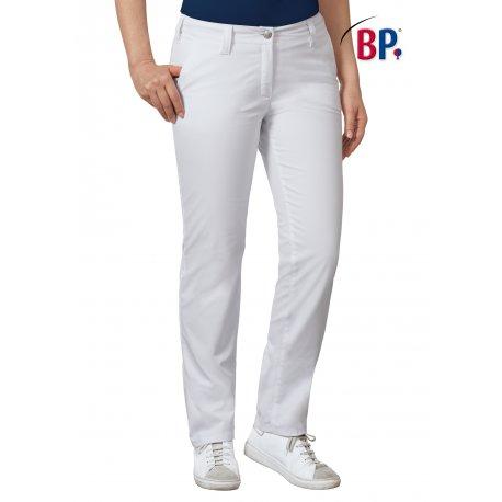 Pantalon médical blanc Femme coupe seyante-BP-