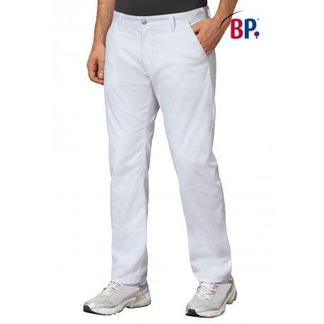 Pantalon médica blanc homme coupe chino-BP-
