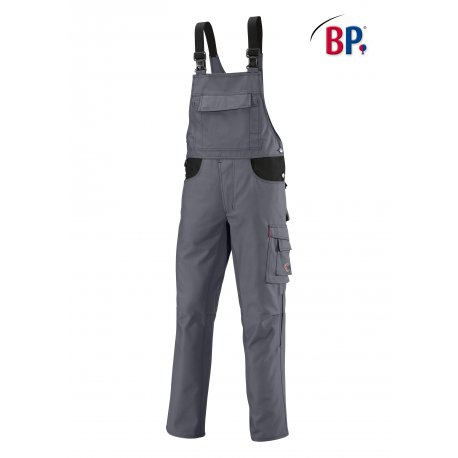 Cotte à bretelle de Travail grise avec renfort fessier-BP-