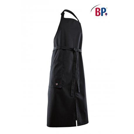 Tablier Bavette Noir avec fentes -BP-