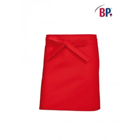 Tablier Bistrot Rouge 60 cm polycoton -BP-