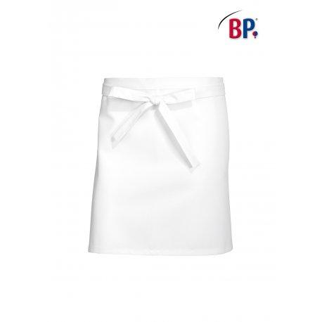 Tablier Bistrot Blanc 60 cm polycoton -BP-
