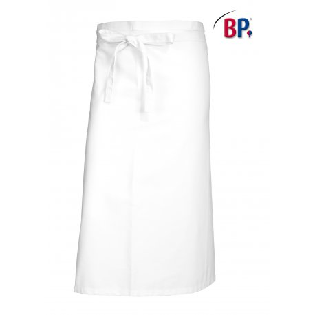 Tablier Bistro blanc 90 cm polycoton -BP-