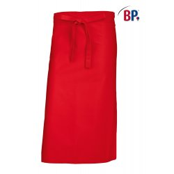Tablier Bistrot Rouge 90 cm polycoton -BP-