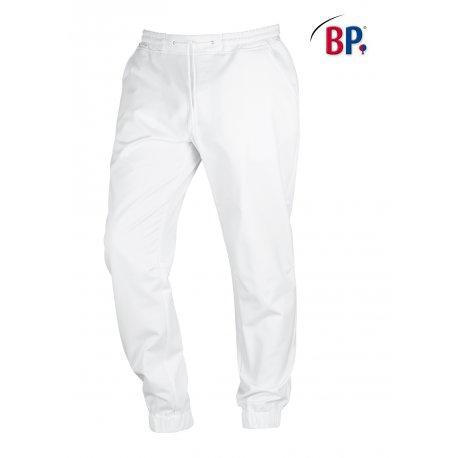 Pantalon de cuisine blanc coupe Jogging Blanc confortable
