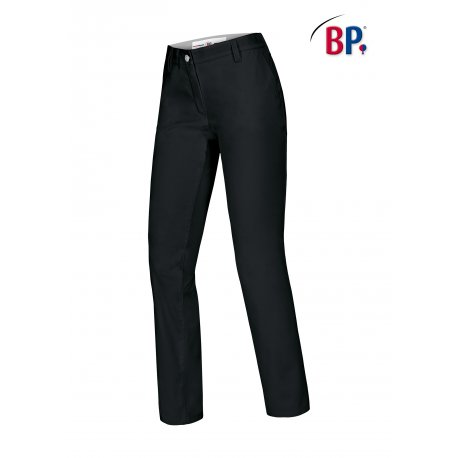 Pantalon de cuisine Femme Chino Noir -BP-