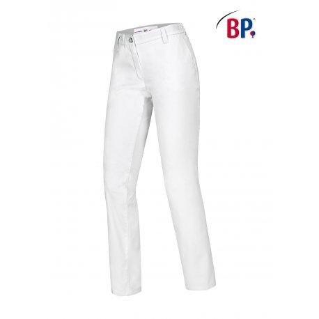 Pantalon de cuisine Femme chino blanc -BP-