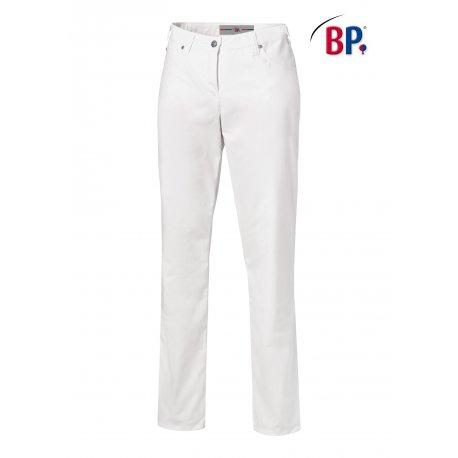 Pantalon de Cuisine blanc Coupe Jean Femme