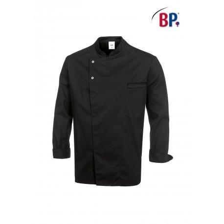 Veste de Cuisine Manches longues Noires Unisexe -BP-