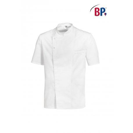 Veste de cuisine blanche manches courtes Mixte pressions cachés