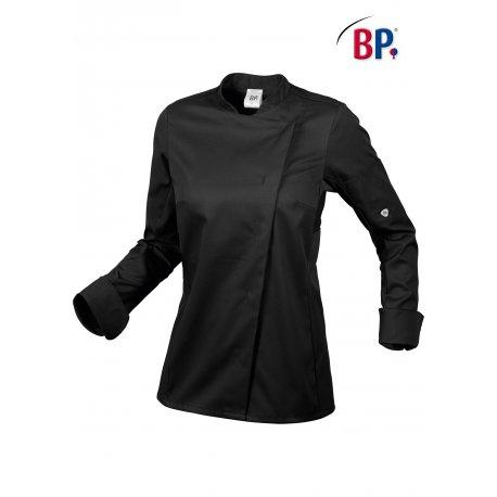 Veste de Cuisine Stretch couleur noire pour Femme Confortable