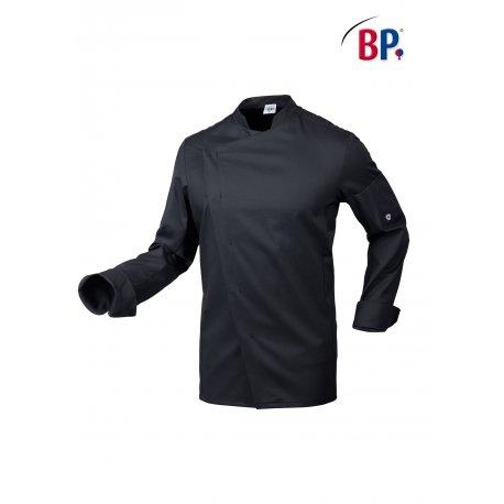 Veste de Cuisine Stretch couleur noire pour Homme manches longues