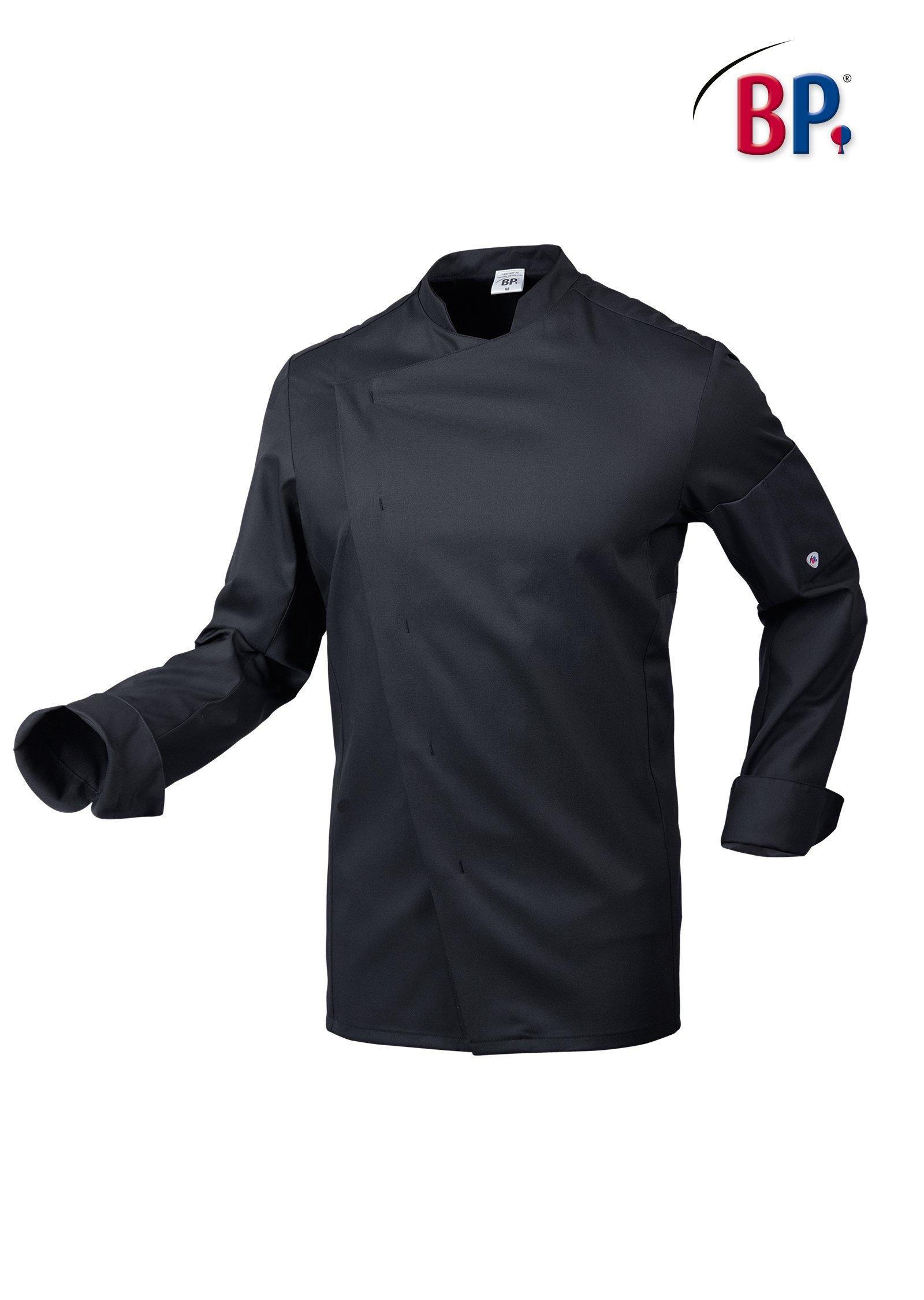 Veste de Cuisine stretch couleur noire pour homme