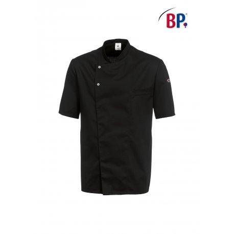 Veste de cuisine noire manches courtes Polycoton BP