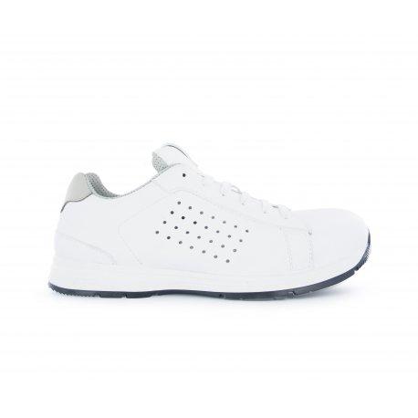 Chaussure de Cuisine blanche type basket ultra Légère et Confortable