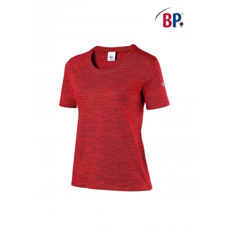 T-Shirt de travail rouge femme coton et élasthane-BP-