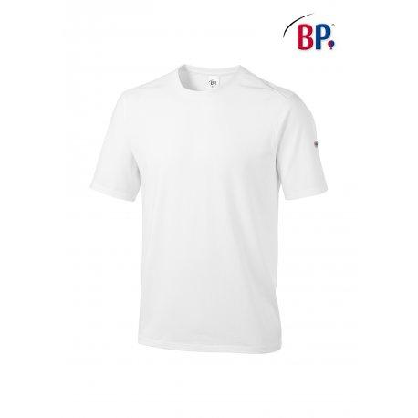 T-Shirt de Travail Blanc mixte coton et élasthane-BP-