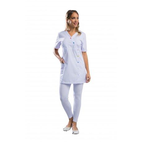 Blouse Pharmacie ajustée en Blanc avec poches-REMI-