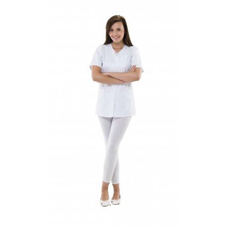 Blouse Pharmacie toute blanche longueur 75 cm-REMI-