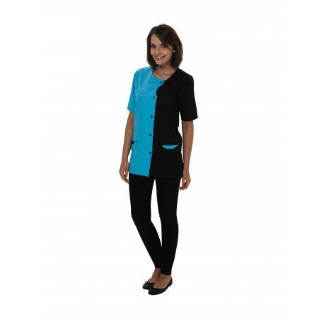 Blouse pour Pharmacienne Turquoise et noire-REMI-