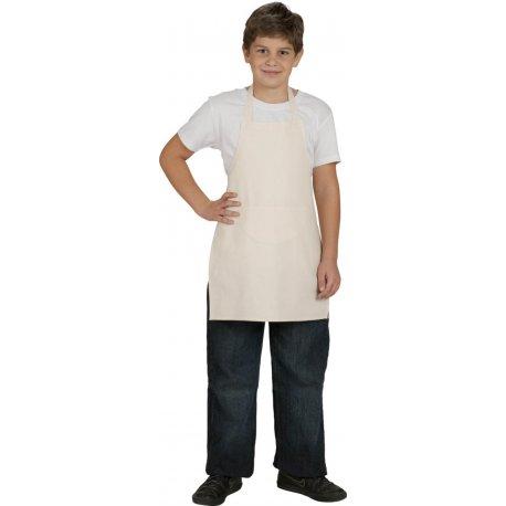 Tablier bavette de cuisine blanc enfant 100% coton -Talbot-
