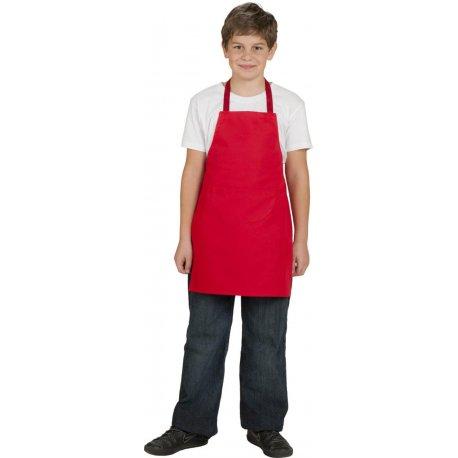 Tablier bavette de cuisine rouge enfant 100 % coton -Talbot-