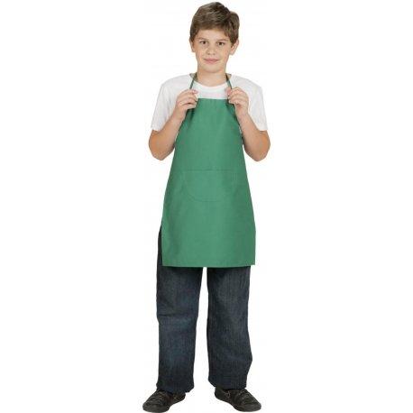 Tablier bavette de cuisine vert enfant 100% coton-Talbot-