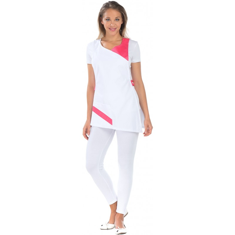 Tablier Chasuble Papaye Blanc et Rose