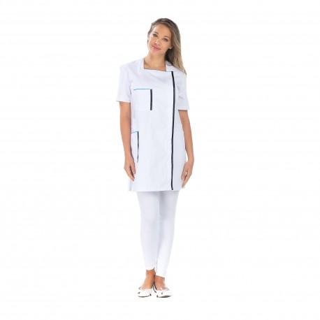 Blouse blanche de Ménage cinq poches polycoton -REMI-